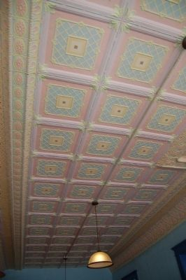 The tin ceiling inside the Chamberlain-Stimmel Building image. Click for full size.