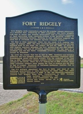 Fort Ridgely Marker image. Click for full size.