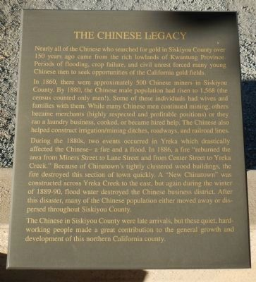 The Chinese Legacy Marker image. Click for full size.
