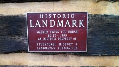 Walker-Ewing Log House Marker image. Click for full size.