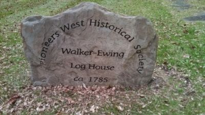 Walker-Ewing Log House Stone image. Click for full size.