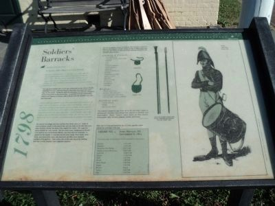 Soldiers' Barracks Marker image. Click for full size.