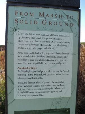 From Marsh to Solid Ground Marker image. Click for full size.