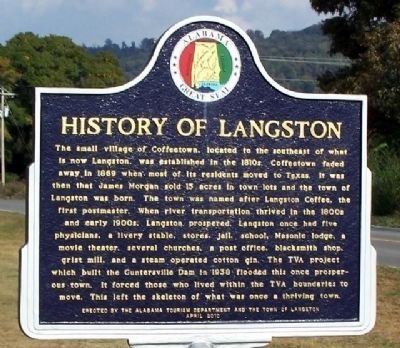 History of Langston Marker image. Click for full size.