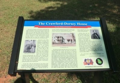 The Crawford-Dorsey House Marker image. Click for full size.