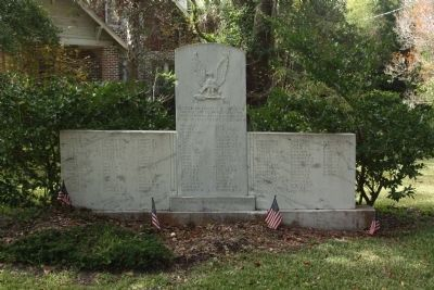 St. James Santee Parish Veterans Memorial Marker cleaned-up image. Click for full size.
