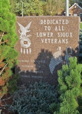 Lower Sioux Veterans Memorial image. Click for full size.