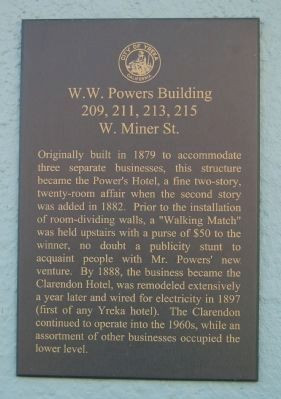 W.W. Powers Building Marker image. Click for full size.