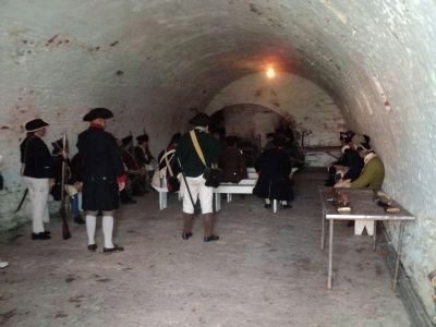 American Troops in Ft. Mifflin Casemate image. Click for full size.