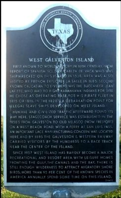 West Galveston Island Marker image. Click for full size.