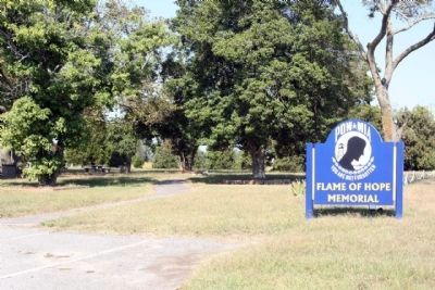 The Flame of Hope Marker located at Memorial Park on Oceana Boulevard (State Road 615) image. Click for full size.