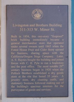 Livingston and Brothers Building Marker image. Click for full size.