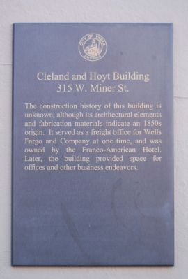 Cleland and Hoyt Building Marker image. Click for full size.