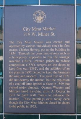 City Meat Market Marker image. Click for full size.