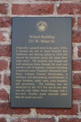 Wetzel Building Marker image. Click for full size.