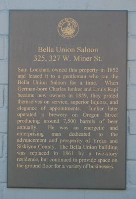 Bella Union Saloon Marker image. Click for full size.