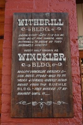 Witherill/Winckler Building Marker image. Click for full size.