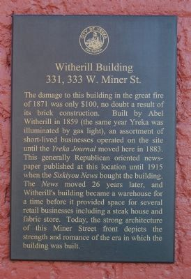 Witherill Building Marker image. Click for full size.