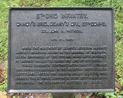 5th Ohio Infantry Marker image. Click for full size.