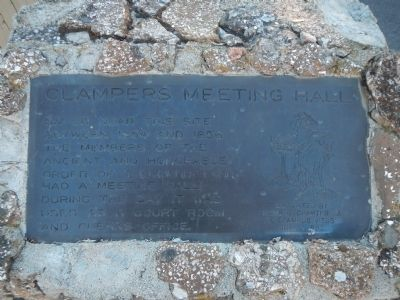 Clampers Meeting Hall Marker image. Click for full size.