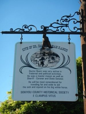 Site of Yreka Inn/Site of Dr. Daniel Ream Ranch Marker image. Click for full size.