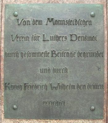 Martin Luther Monument Sponsors image. Click for full size.