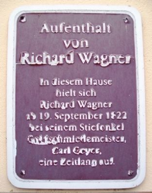 Residence of Richard Wagner Marker image. Click for full size.