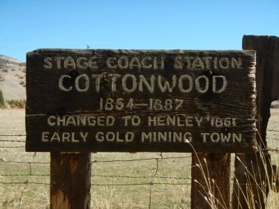 Cottonwood Marker image. Click for full size.