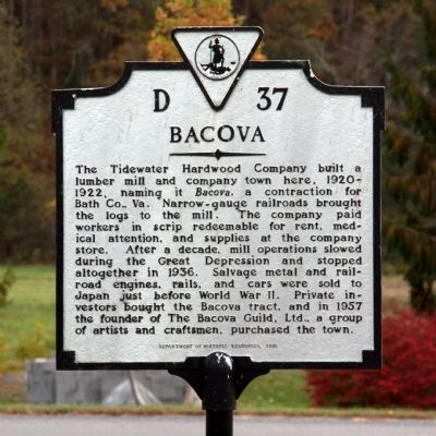 Bacova Marker image. Click for full size.