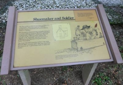 Shoemaker and Soldier Marker image. Click for full size.