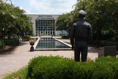 """P T's Pirates"" Marker located at the Mighty Eighth Air Force Museum image. Click for full size."
