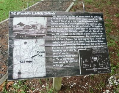 The Savannah Lumber Company Marker image. Click for full size.