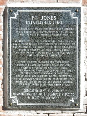 Fort Jones Marker image. Click for full size.