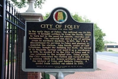 City of Foley Marker (side 2) image, Touch for more information