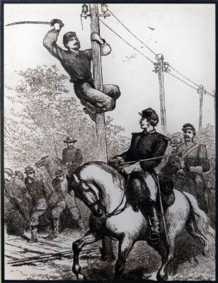 Cutting the telegraph wire image. Click for full size.