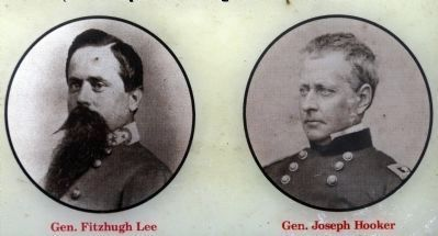 General Fitzhugh Lee and General Joseph Hooker image. Click for full size.