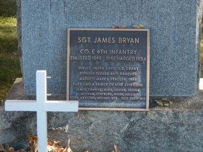 Sgt. James Bryan Marker image. Click for full size.