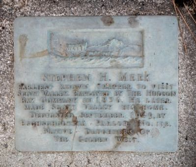 Stephen H. Meek Marker image. Click for full size.