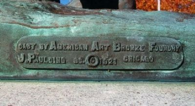 Olathe World War Memorial Statue Foundry Marker image. Click for full size.