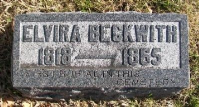 Elivra Beckwith Marker image. Click for full size.