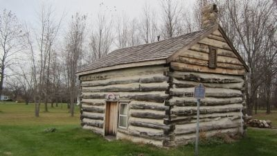 Log Cabin, Front and East sides image. Click for full size.