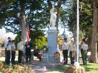 Veterans Day Ceremony at Olathe Civil War Memorial image. Click for full size.