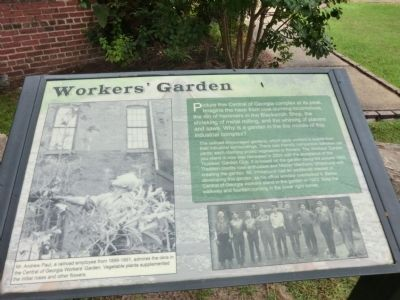 Workers' Garden Marker image. Click for full size.