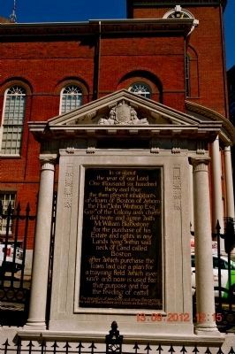 Boston Common Marker image. Click for full size.