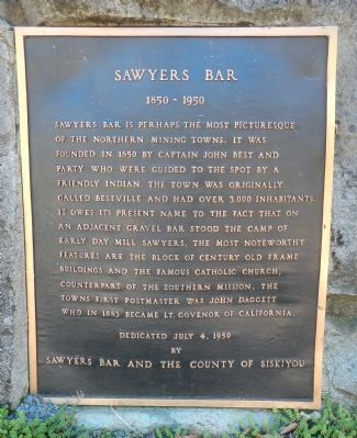 Sawyers Bar Marker image. Click for full size.