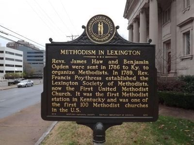 Methodism in Lexington Marker image. Click for full size.
