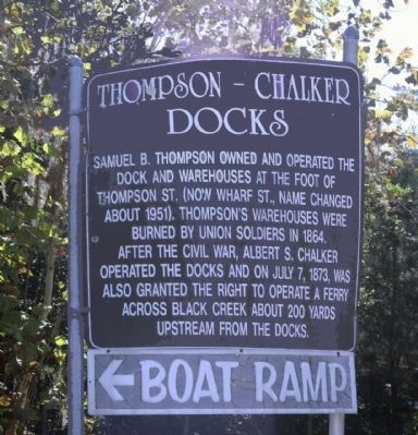 Thompson - Chalker Docks Marker image. Click for full size.