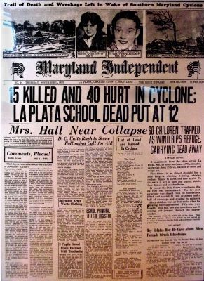 15 Killed and 40 Hurt in Cyclone; <br>La Plata School Dead put at 12 image. Click for full size.