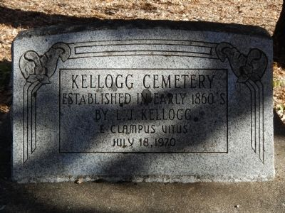 Kellogg Cemetery Marker image. Click for full size.