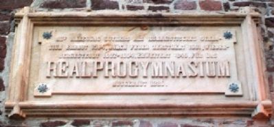 Altes Gymnasium Namepiece Over Entrance image. Click for full size.
